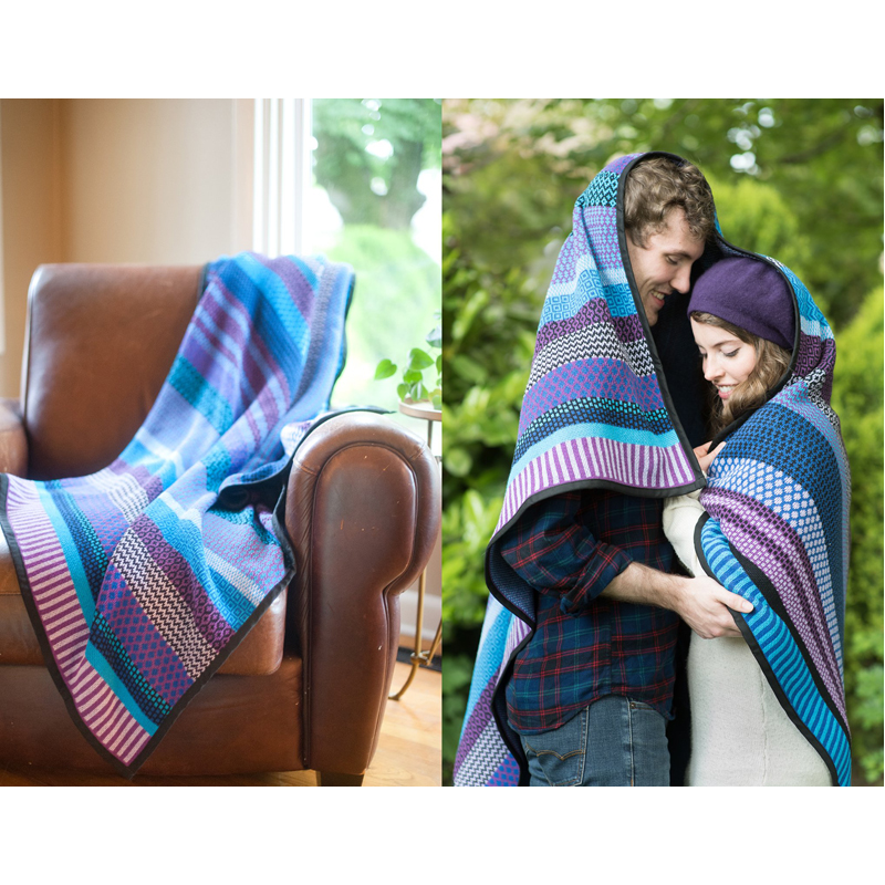 EarthHero - Raspberry Recycled Cotton Blankets - 3