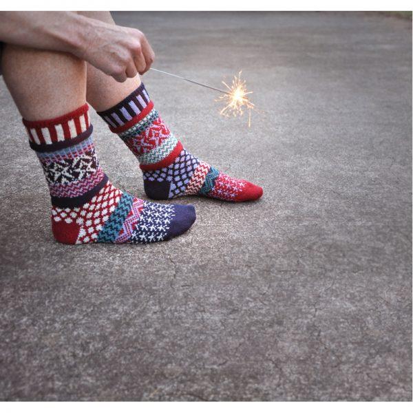 EarthHero - Stars & Stripes Crew Cut Solmate Socks - 2