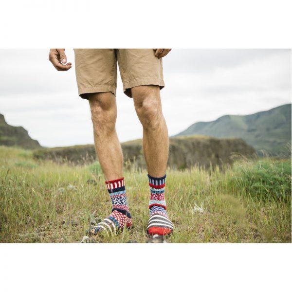 EarthHero - Stars & Stripes Crew Cut Solmate Socks - 3