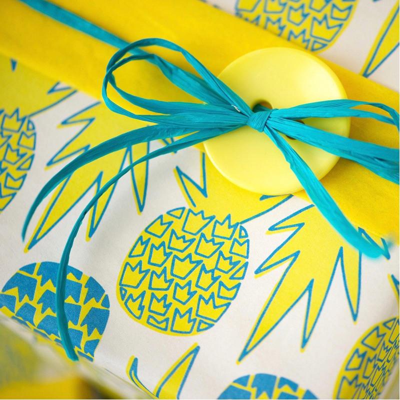 EarthHero - Hawaiian Pineapple Recycled Gift Paper (6pk) 2