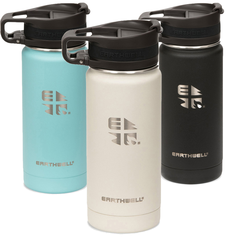 EarthHero - Roaster Wide Mouth Insulated Stainless Steel Water Bottle 16oz - 1