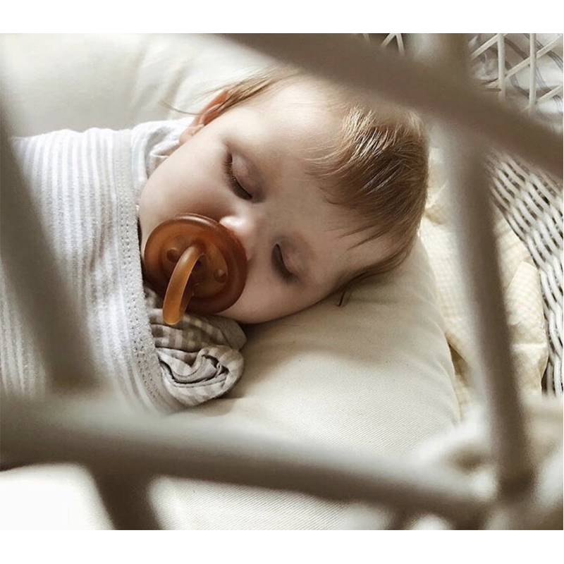 EarthHero - Ecopiggy Round Natural Pacifier (3pk) | EcoPiggy | Eco-Friendly Baby - 4