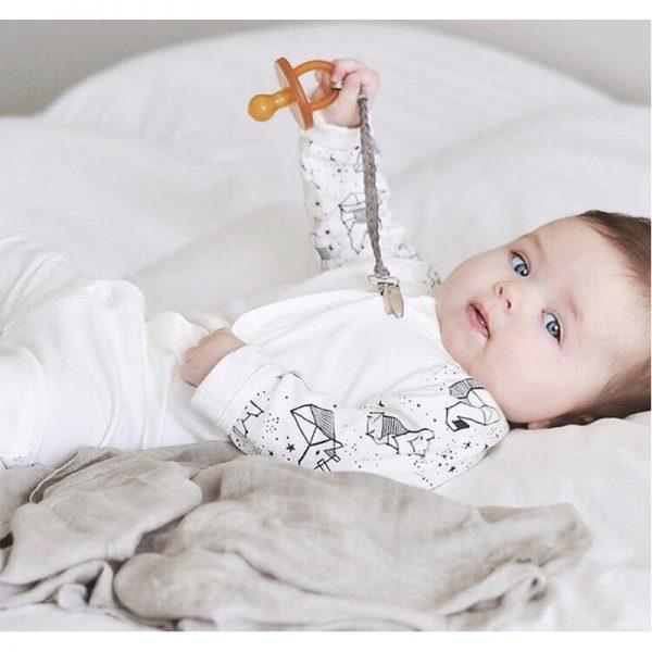 EarthHero - Ecopiggy Round Natural Pacifier (3pk) | EcoPiggy | Eco-Friendly Baby - 5