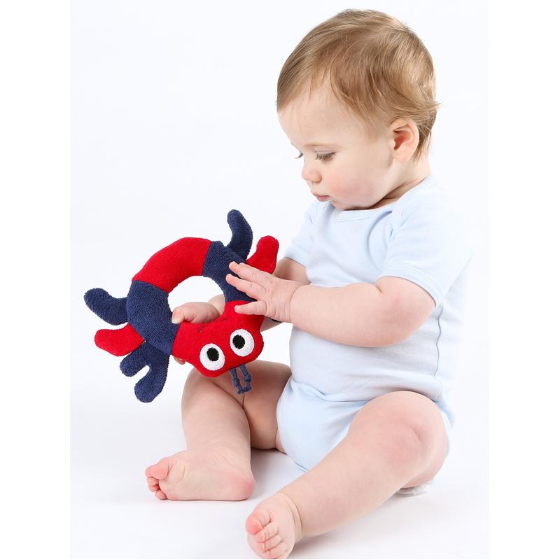 EarthHero - Crab Ring Organic Plush Toy - 2
