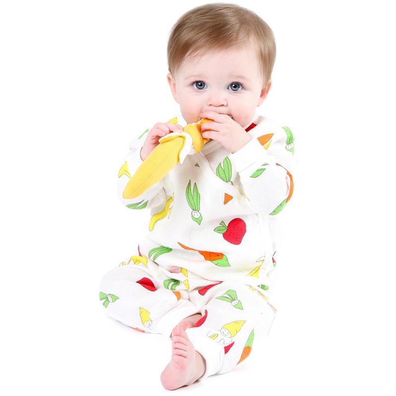 EarthHero - Organic Muslin Side Snap Baby Kimono - 3