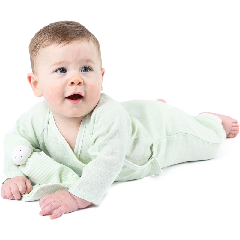 EarthHero - Organic Muslin Side Snap Baby Kimono - 5