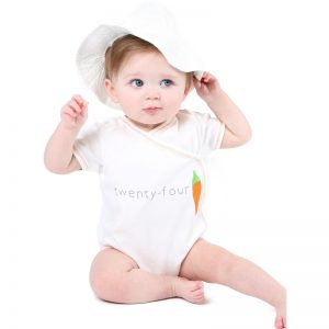 EarthHero - Side Snap Short Sleeve Veggie Baby Onesie  - 2