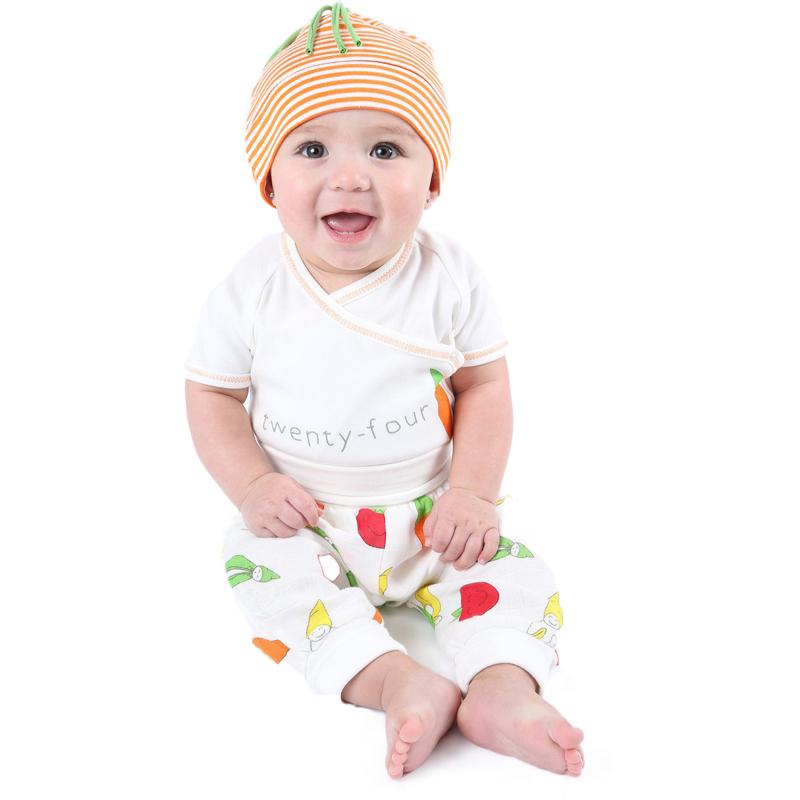EarthHero - Side Snap Short Sleeve Veggie Baby Onesie  - 3