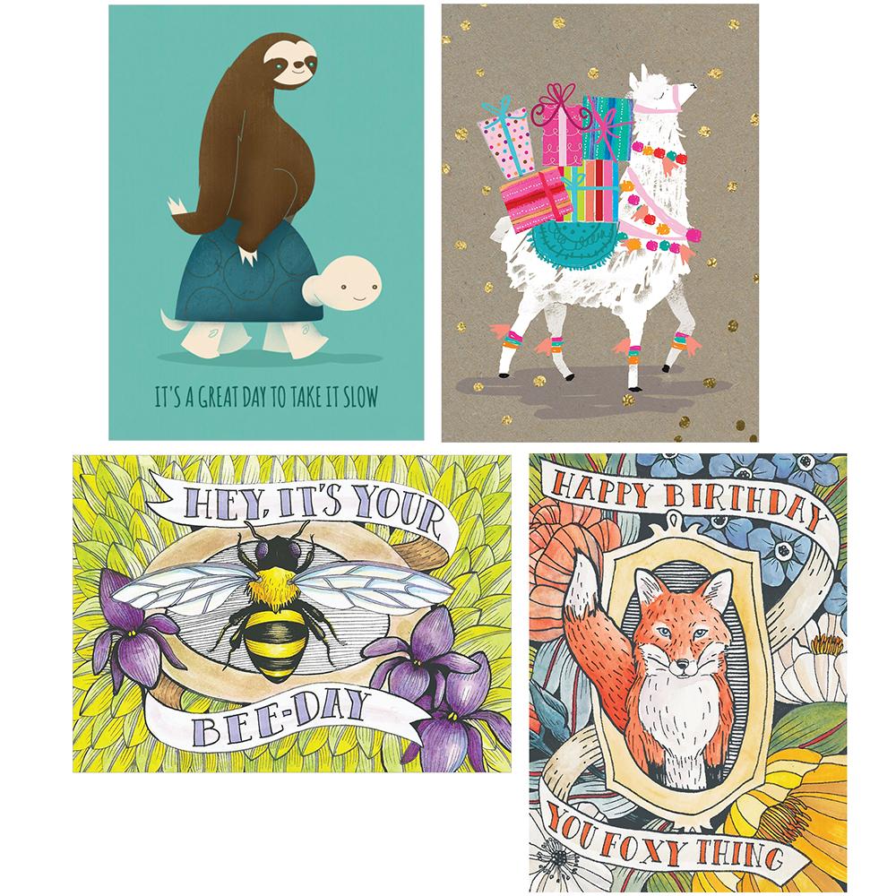 EarthHero - Animal Party Birthday Cards 1