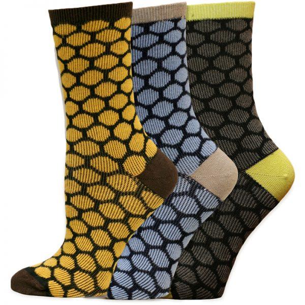 EarthHero - Organic Cotton Beekeeper Dress Socks 1