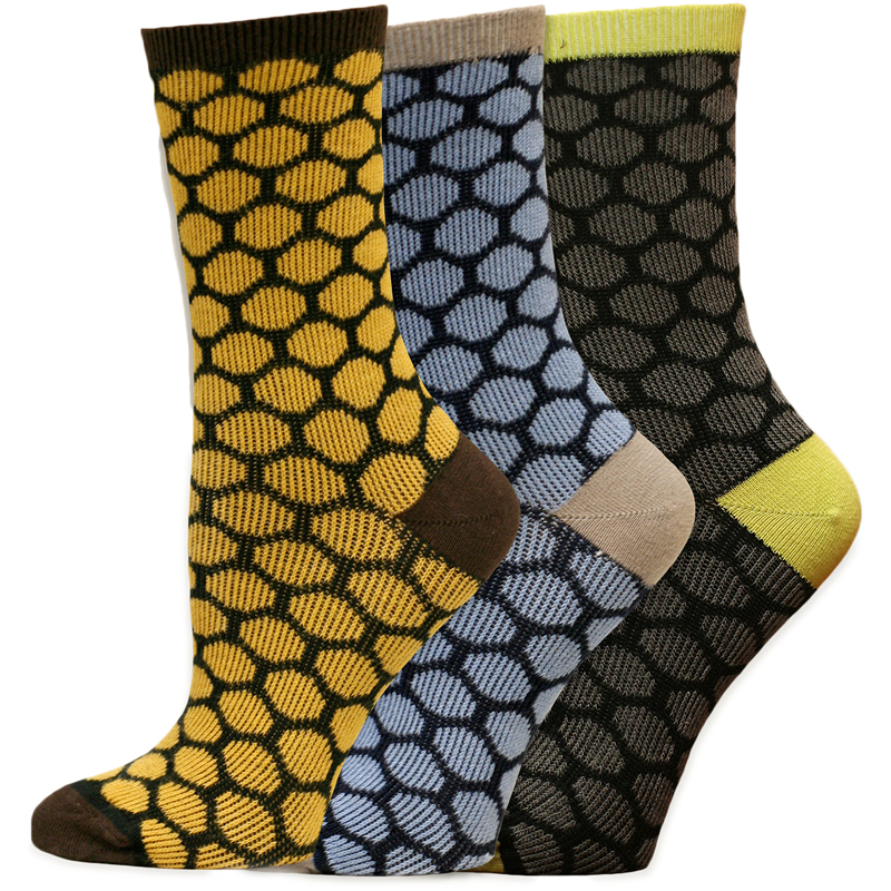 EarthHero - Organic Cotton Beekeeper Dress Socks 1