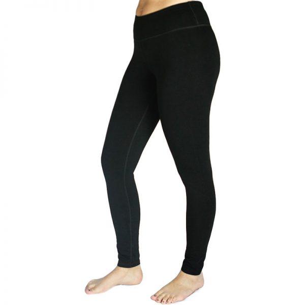 EarthHero - Organic Cotton Ankle Black Leggings - Black