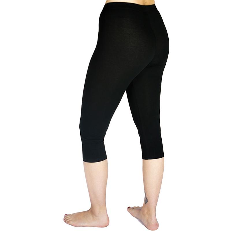 EarthHero - Organic Cotton Midcalf Black Leggings 2