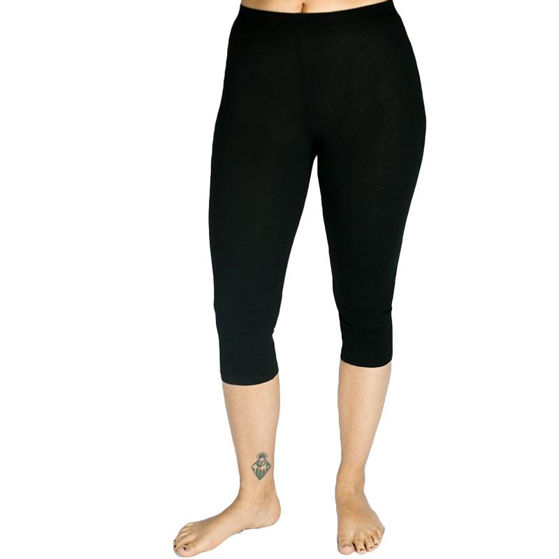 EarthHero - Organic Cotton Midcalf Black Leggings - Black