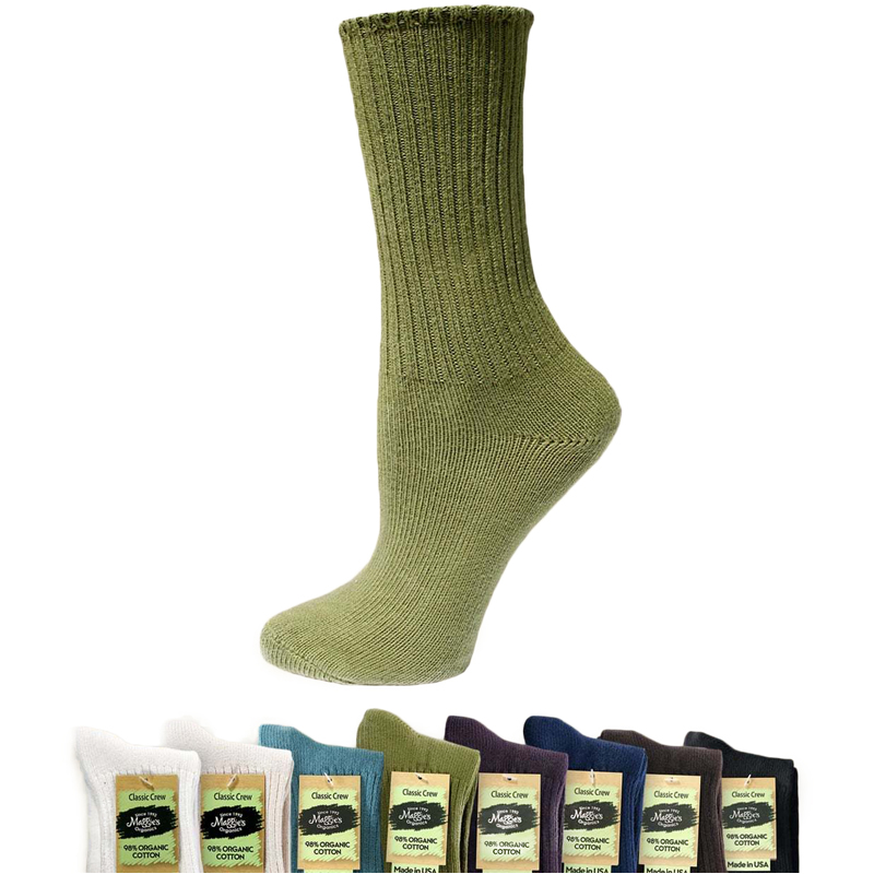 EarthHero - Organic Cotton Classic Crew Socks 1