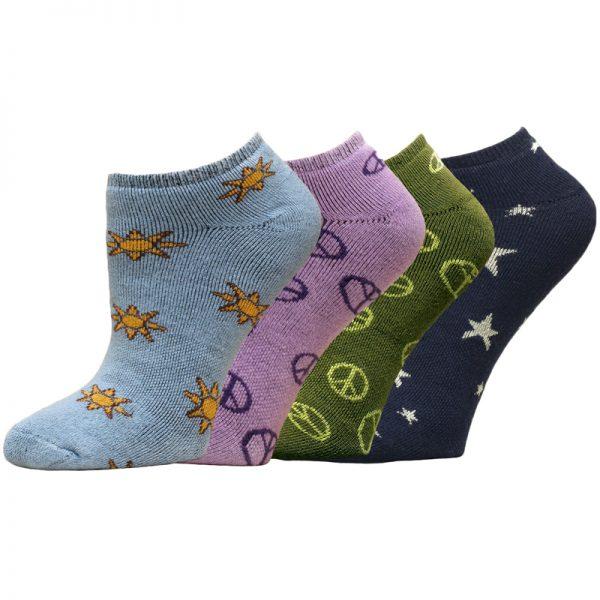 EarthHero - Organic Cotton Patterned Cushioned Footie Socks 1