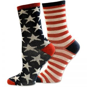 EarthHero - Organic Cotton Stars & Stripes Dress Socks 1