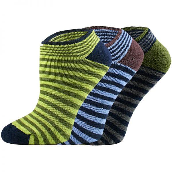 EarthHero - Organic Cotton Striped Cushioned Footie Socks 1