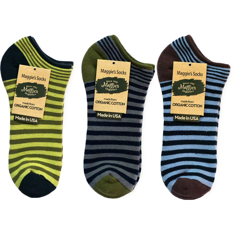EarthHero - Organic Cotton Striped Cushioned Footie Socks 2