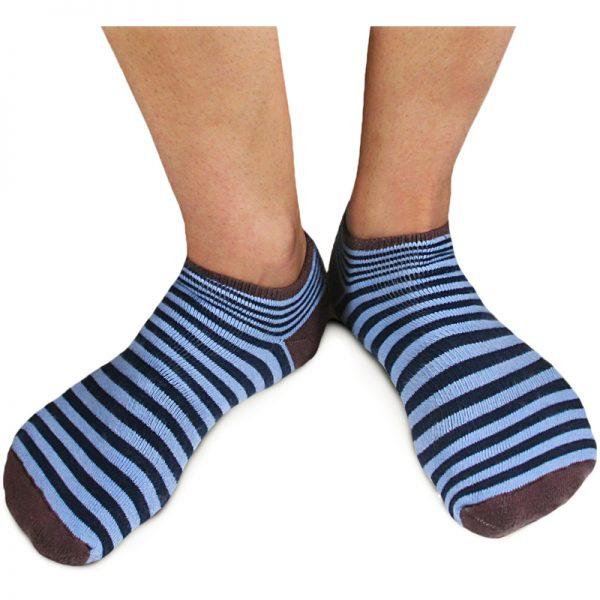 EarthHero - Organic Cotton Striped Cushioned Footie Socks 3