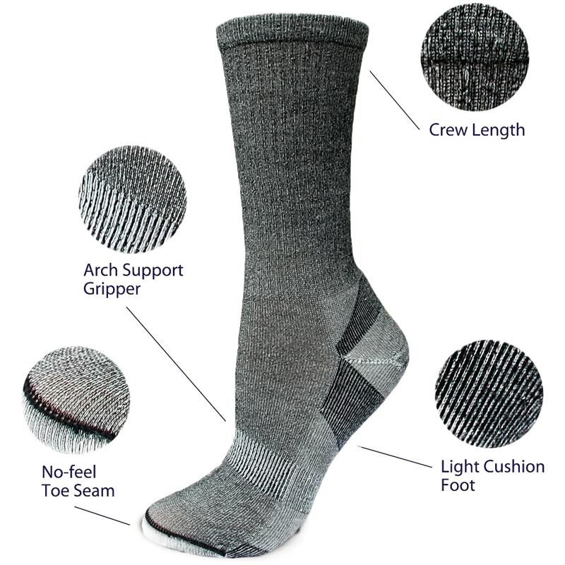 EarthHero - Organic Wool Urban Trail Crew Socks 3