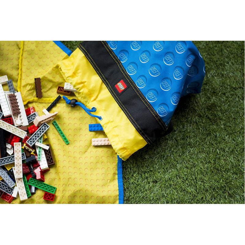 EarthHero - Blue Cinch LEGO® Storage Bucket  - 4