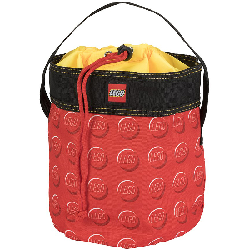 EarthHero - Red Cinch LEGO® Storage Bucket  - 1