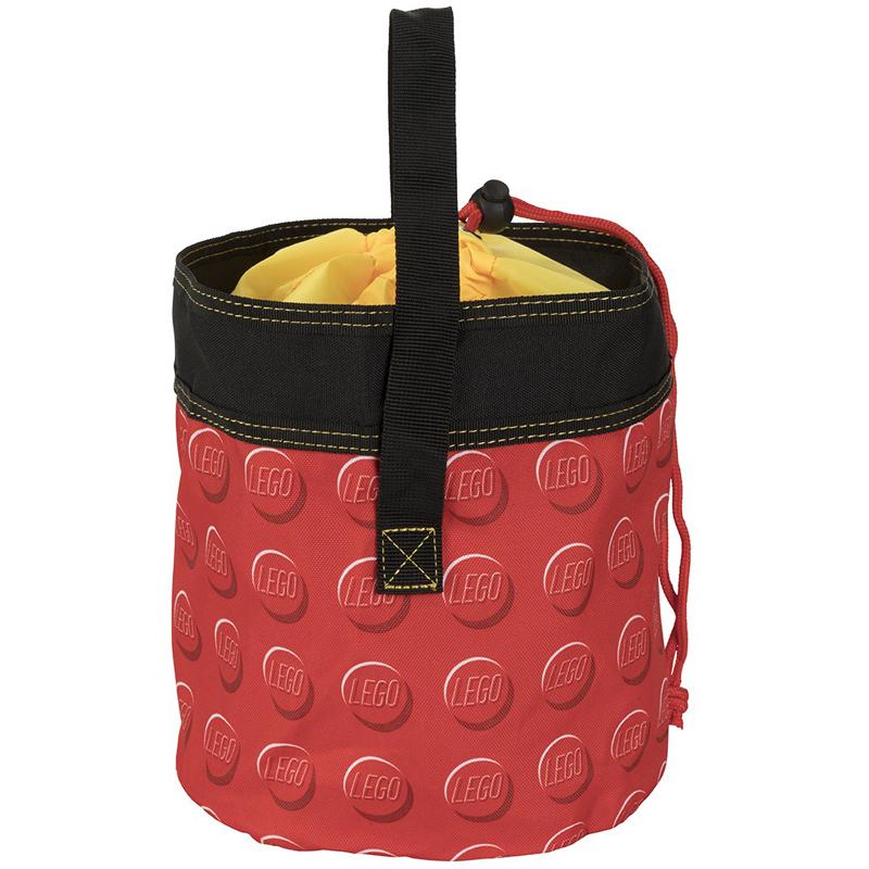 EarthHero - Red Cinch LEGO® Storage Bucket  - 2