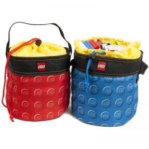 EarthHero - Red Cinch LEGO® Storage Bucket  - 4