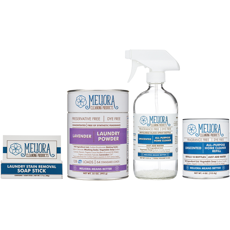 EarthHero - Home and Laundry Natural Cleaning Bundle - Lavender - No Scoop