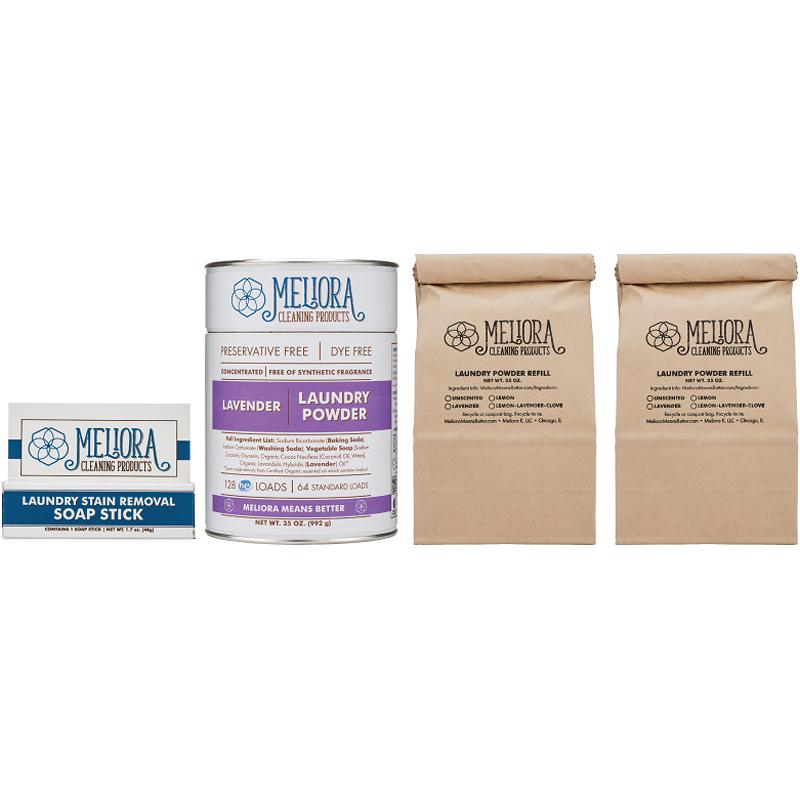 EarthHero - Natural Powder Laundry Detergent Bundle  - Lavender