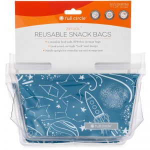 EarthHero - Kids ZipTuck Reusable Snack Bags -  Space