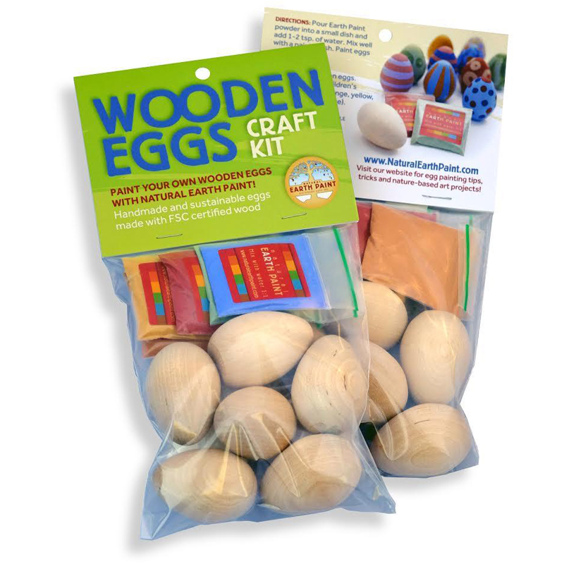 EarthHero - Painted Wooden Eggs Easter Craft Kit  | EcoPiggy | Eco-Friendly Crafts - 1