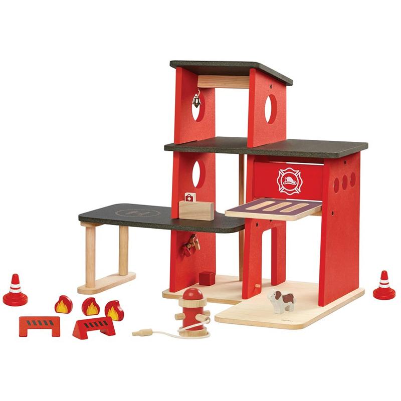 EarthHero - Pretend Play Fire Station Set - 1