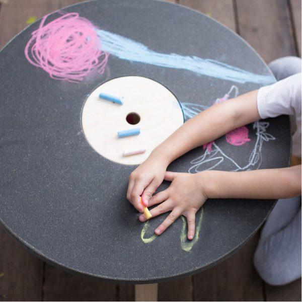 EarthHero - Round Chalk Kids Table - 2
