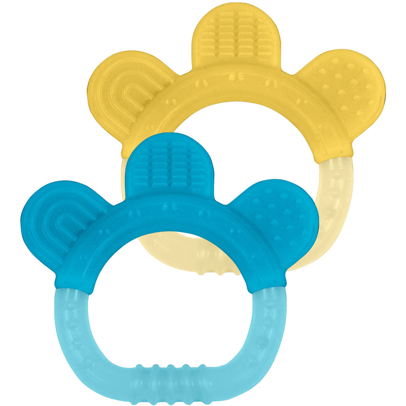 EarthHero - Silicone Teething Rings (2pk) - Aqua