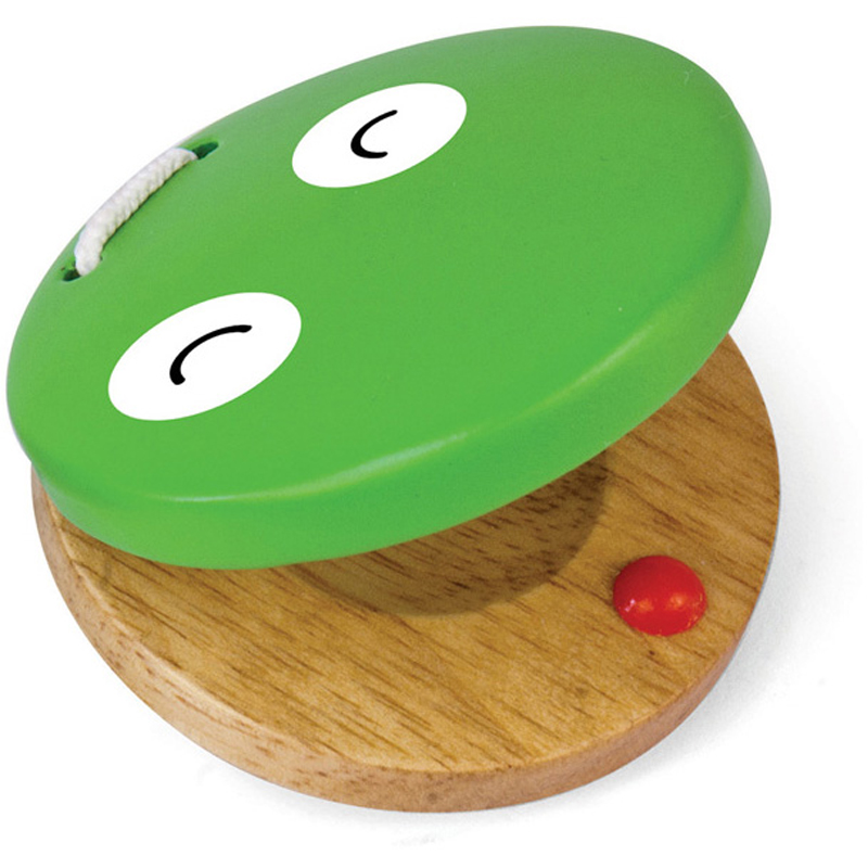 EarthHero - Kids Wooden Frog Castanet Clapper Toy - 1