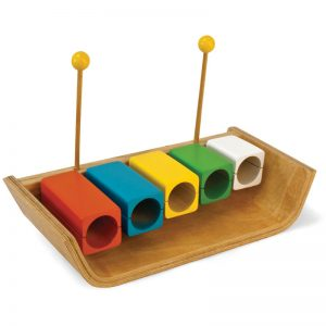 EarthHero - Kids Wooden Temple Musical Blocks - 1
