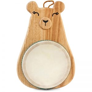 EarthHero - Natural Rubber Mama Bear Toddler Drum Set - 1