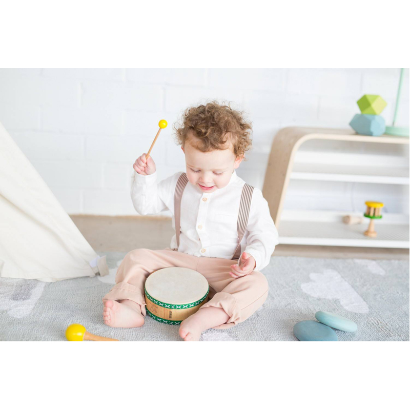 EarthHero - Natural Rubber Tom Tom Toddler Drum Set - 3