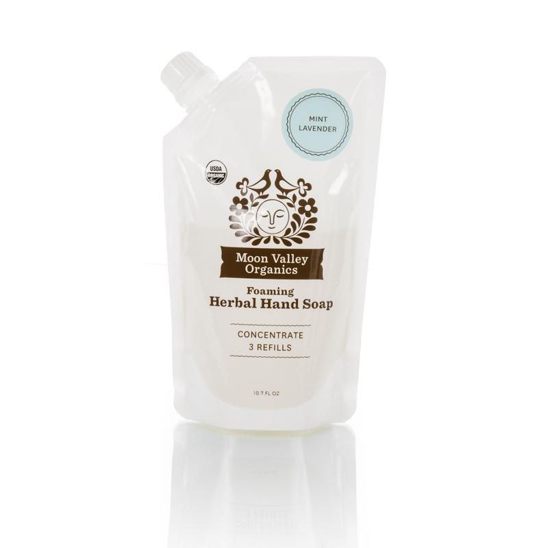 EarthHero - Mint Lavender Foaming Liquid Organic Soap Refill Pouch - 1