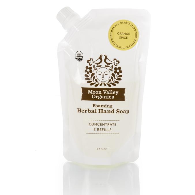 EarthHero - Orange Spice Rosemary Foaming Liquid Organic Soap Refill Pouch - 1