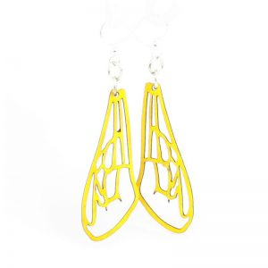 EarthHero - Bee Wing Wooden Earrings 1