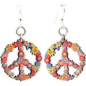 EarthHero - Blossom Peace Wooden Earrings 1