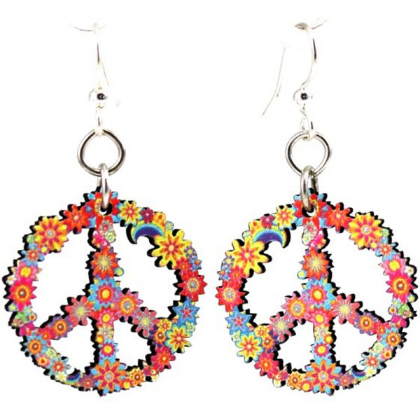 EarthHero - Blossom Peace Wooden Earrings 1