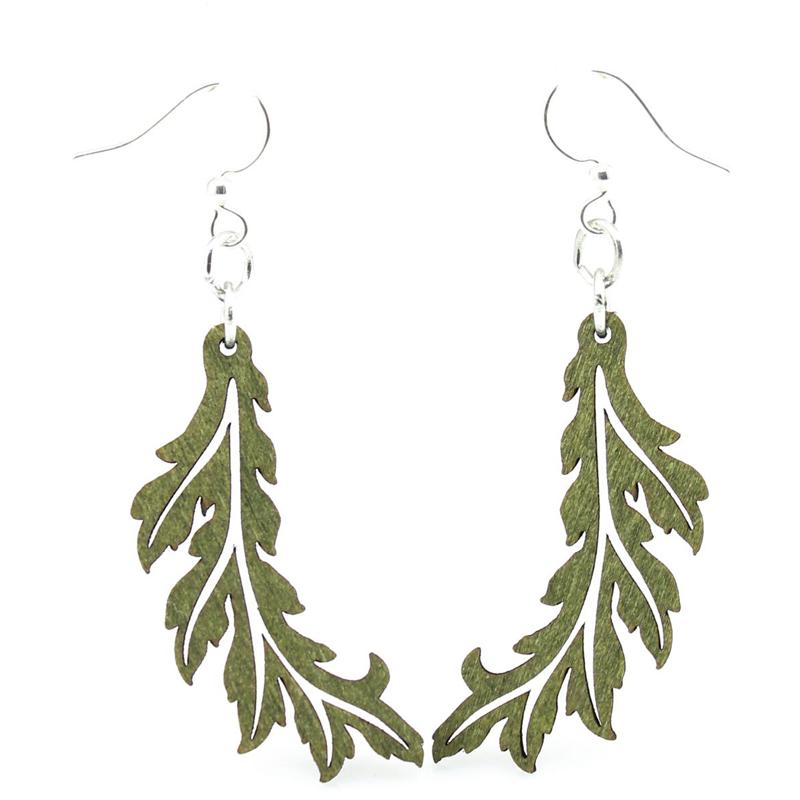 EarthHero - Flowing Leaf Wooden Earrings 1