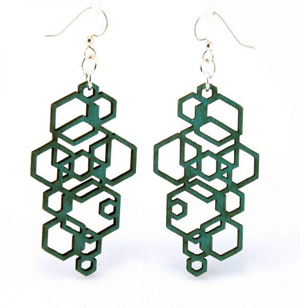 EarthHero - Hexagon Wooden Earrings 1