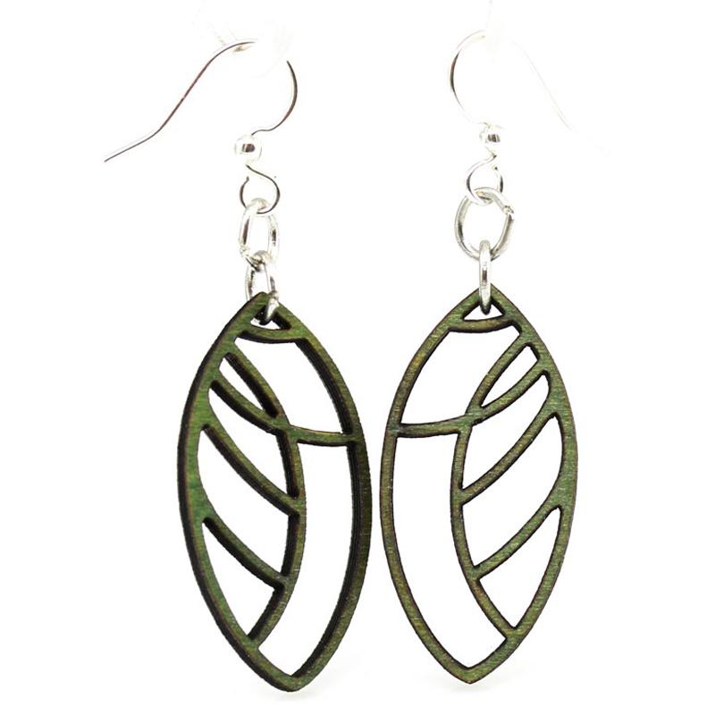 EarthHero - Leaf Blossom Wooden Earrings 1