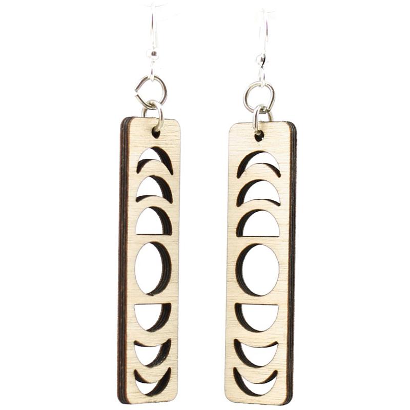 EarthHero - Lunar Eclipse Wooden Earrings 1