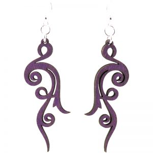 EarthHero - Small Scroll Wooden Earring 1